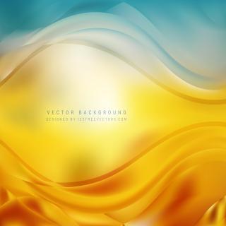 Abstract Blue Orange Wave Design Background