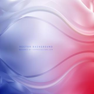 Blue Red Curve Background