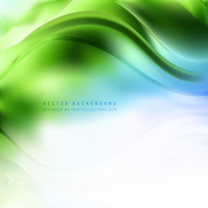 Blue Green Wave Background
