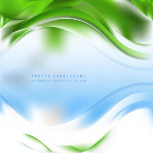 Blue Green Curve Background
