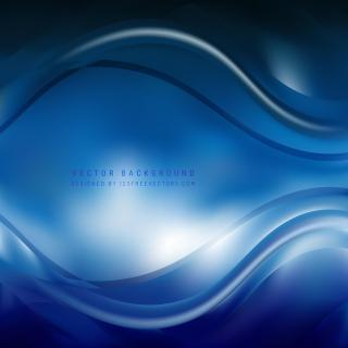 Navy Blue Curve Background