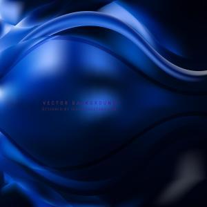 Navy Blue Wave Design Background