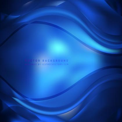 Abstract Navy Blue Wave Background