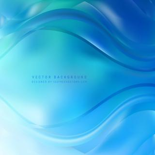 Blue Wave Background Template