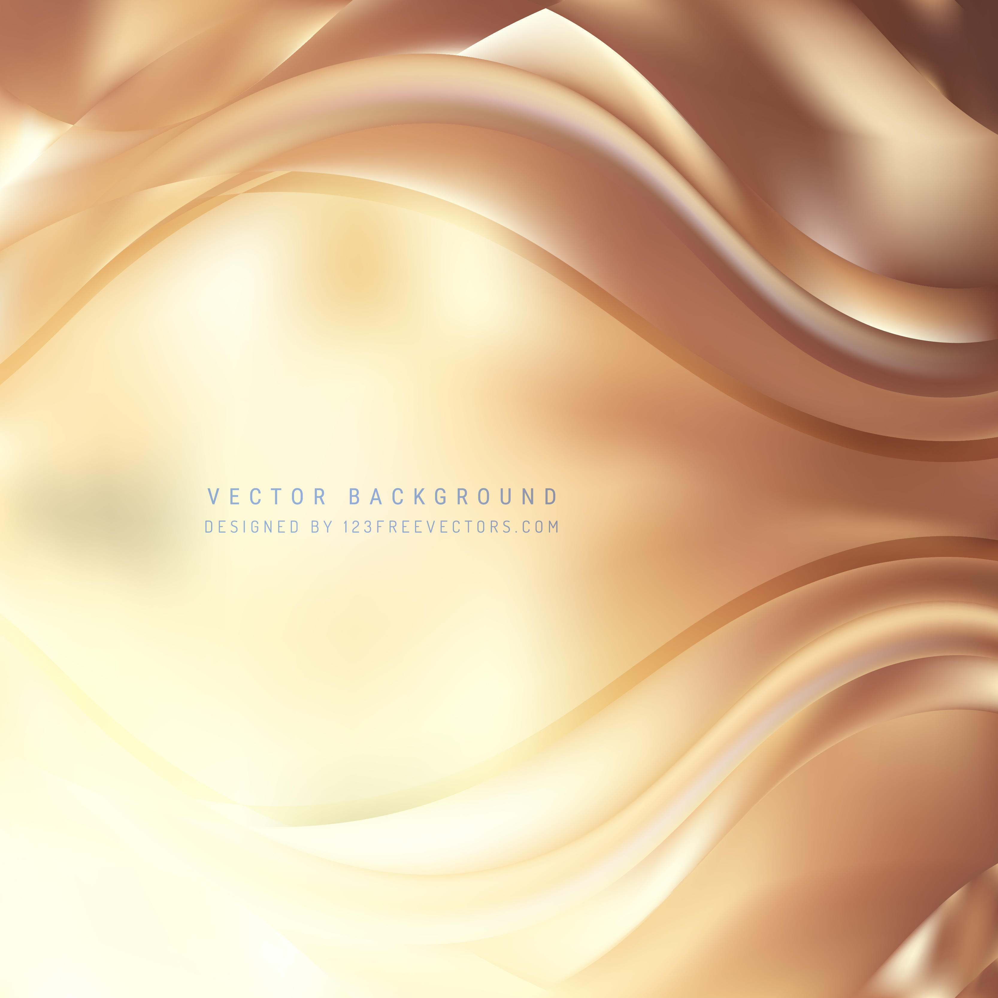 Abstract Light Brown Wave Background