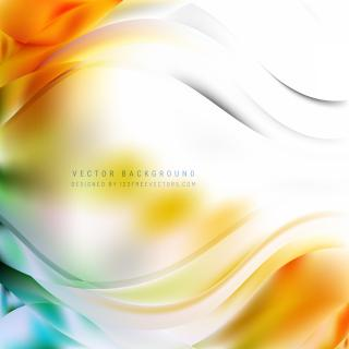 Abstract Light Colorful Wavy Background