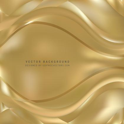 Abstract Gold Wave Background Template