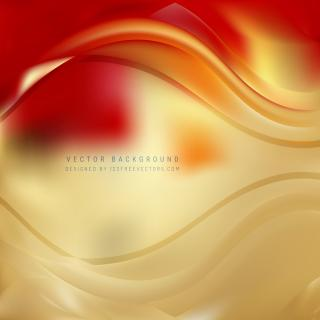 Red Gold Wave Background