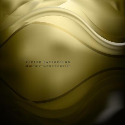 Black Gold Wave Design Background