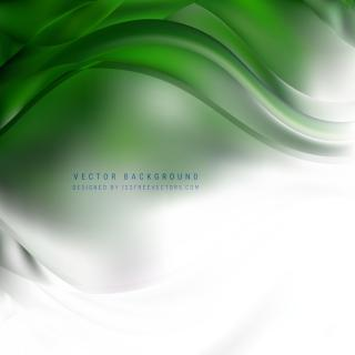Abstract White Green Wave Design Background