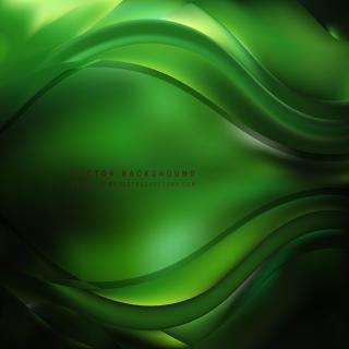Black Green Curve Background