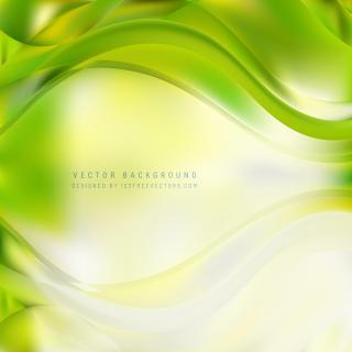 Yellow Green Wavy Background
