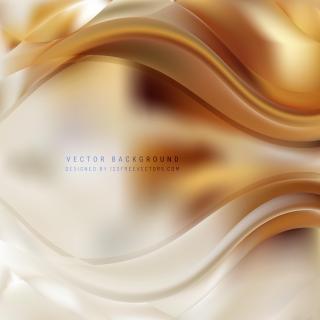 Abstract Light Orange Wave Design Background