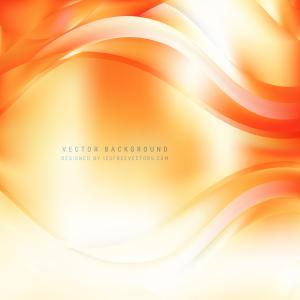 Abstract White Orange Wave Background Template