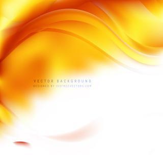 White Orange Wave Background