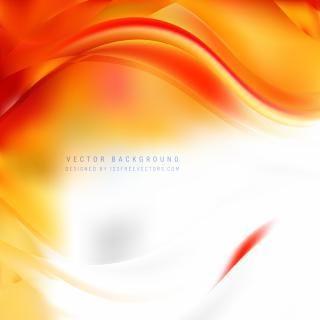 White Orange Wavy Background