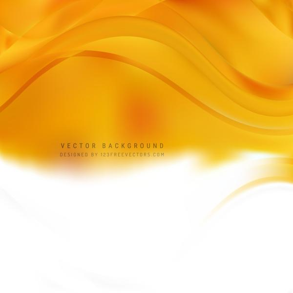 White Orange Wave Background Template