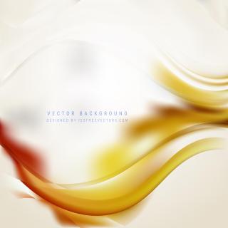 Abstract White Orange Wave Background