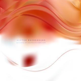 Abstract White Orange Wavy Background