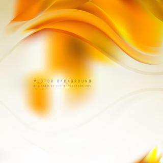 Abstract White Orange Curve Background
