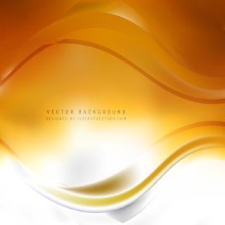 Abstract White Orange Wave Design Background