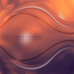 Dark Orange Wave Background Template