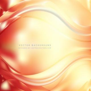 Yellow Orange Wave Design Background