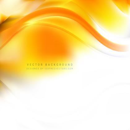 Yellow Orange Wave Design Background