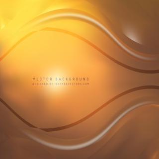 Orange Wavy Background