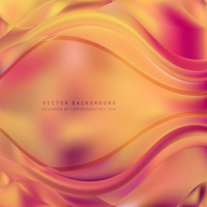 Yellow Pink Wave Background