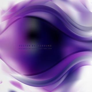 Dark Purple Wave Background Template