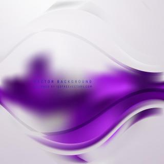Abstract Light Purple Wave Background Template