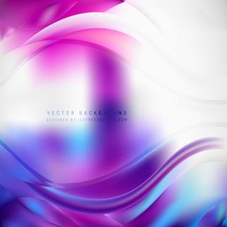 Blue Purple Wave Background