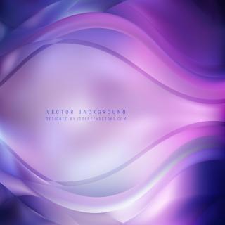 Blue Purple Wave Background Template