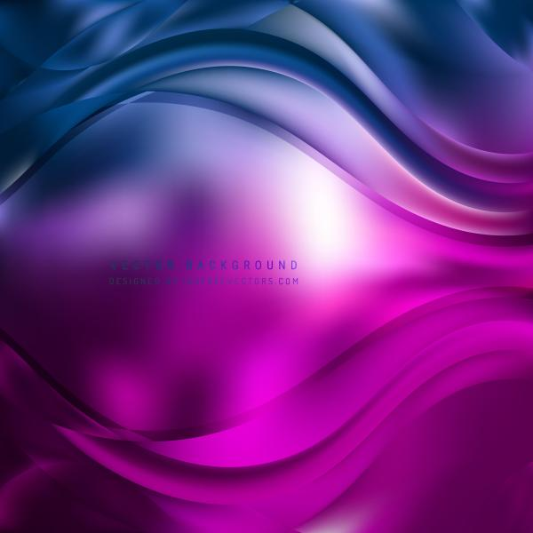 Abstract Blue Purple Wavy Background