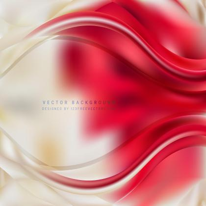 Red Beige Wave Background Template
