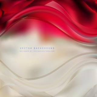 Abstract Red Beige Wave Background