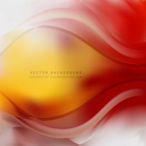 Abstract Red Yellow Wavy Background