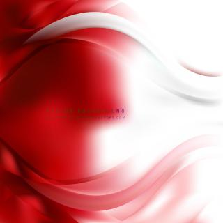 Red White Wave Design Background