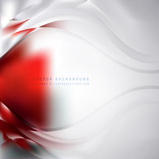 Red White Wave Background Template