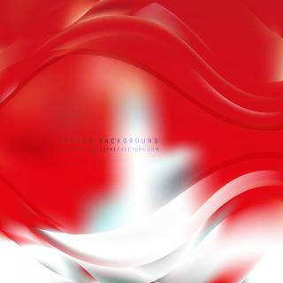 Abstract Red White Wave Design Background