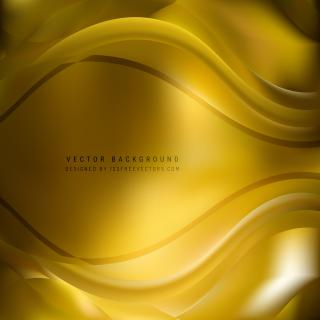 Dark Goldenrod Wave Background Template