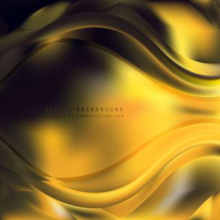 Abstract Black Yellow Wave Design Background