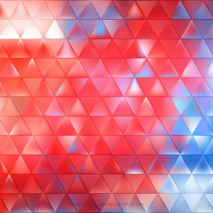 Blue Red Triangle Pattern