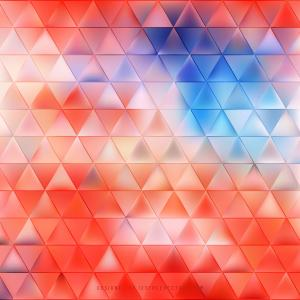 Blue Red Triangle Background Pattern