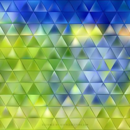 Blue Green Triangle Vector Background