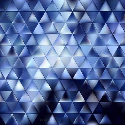 Dark Blue Triangle Background Vector