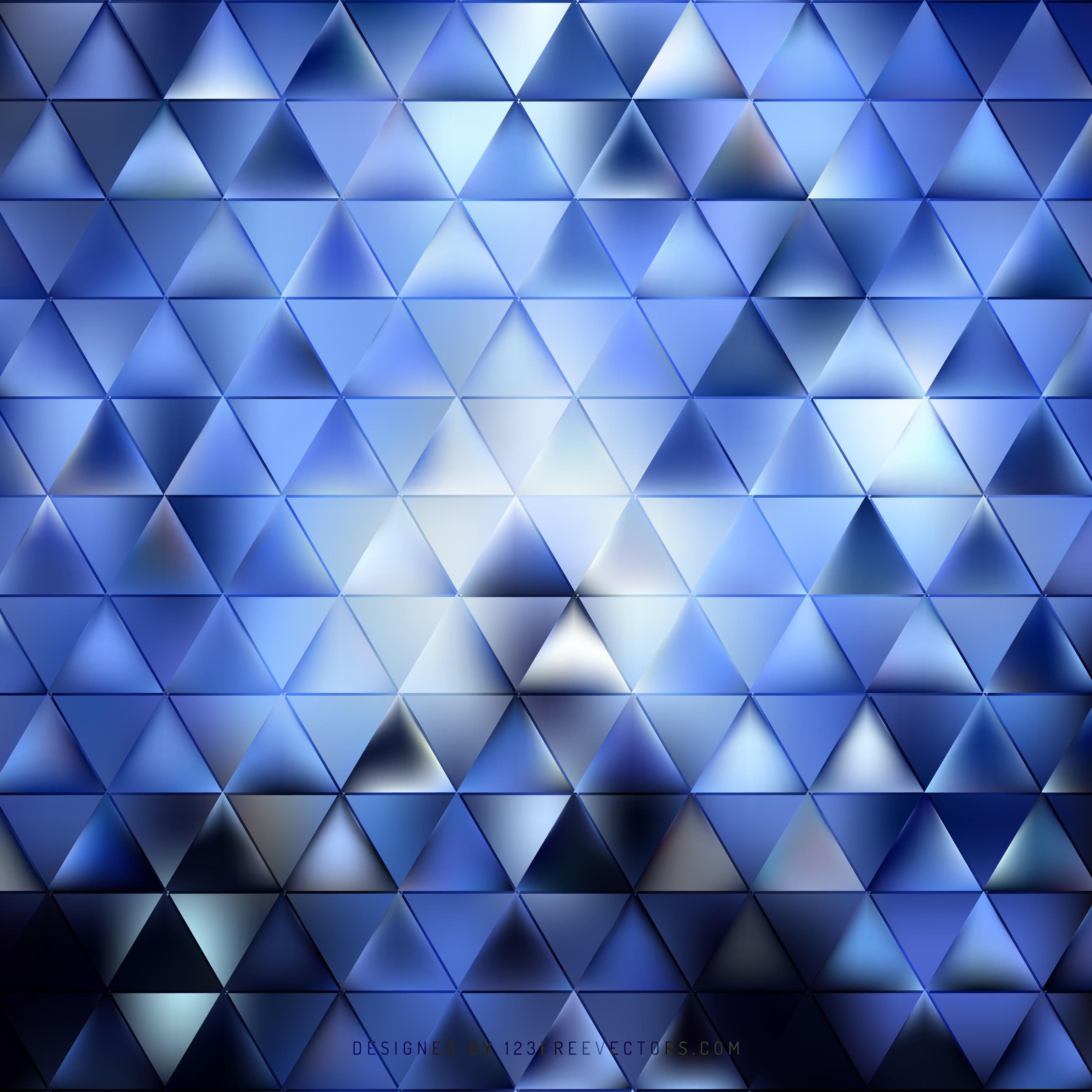 dark blue abstract triangle background clip art