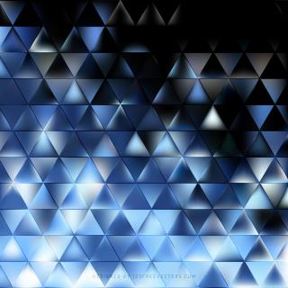Abstract Blue Black Triangle Background Illustrator