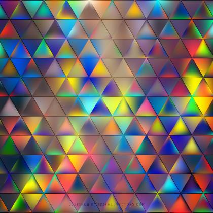 Abstract Colorful Triangle Background Image